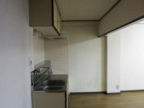 新居のキッチン横から