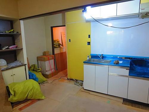 新居リフォーム中-キッチン