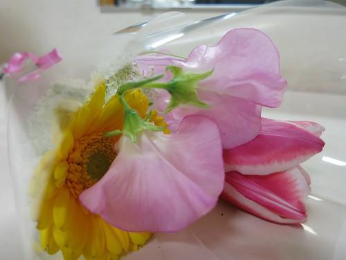 先生から頂いた花束