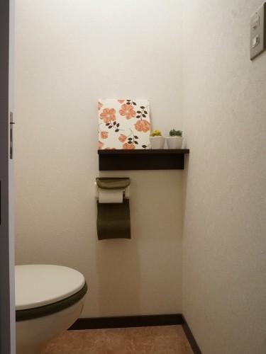 トイレに無印良品の壁につけられる家具(棚)