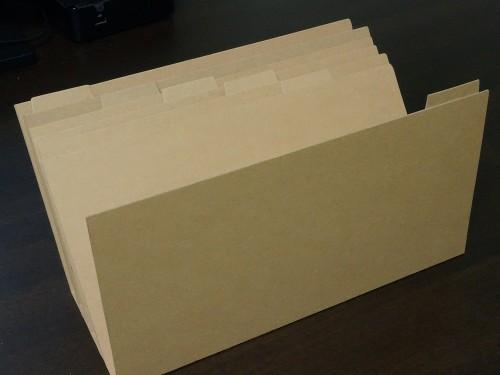 手作り書類レタースタンド