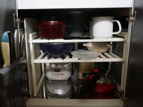 炊飯器処分前のシンク下収納
