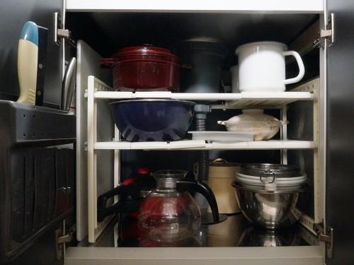 炊飯器処分後のシンク下収納