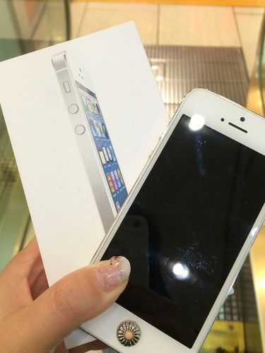 買い取り前のiPhone5