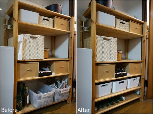 パイン材の棚Before-After