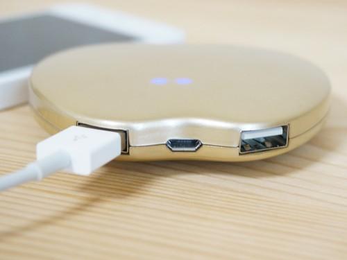 リンゴ型のモバイルバッテリー